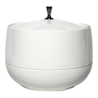 1960s Vintage White Plastic Ice Bucket For Sale