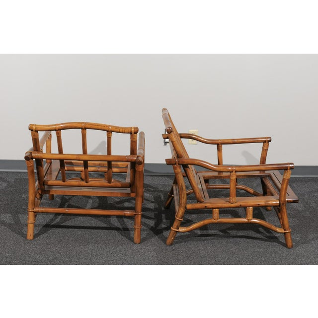 Beautiful Restored Pair of Pagoda Style Loungers by Ficks Reed, circa 1970 For Sale In Atlanta - Image 6 of 13