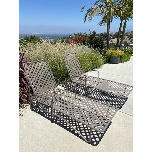 Coffee Vintage Brown Jordan Tamiami Chaise Lounges - a Pair For Sale - Image 8 of 8