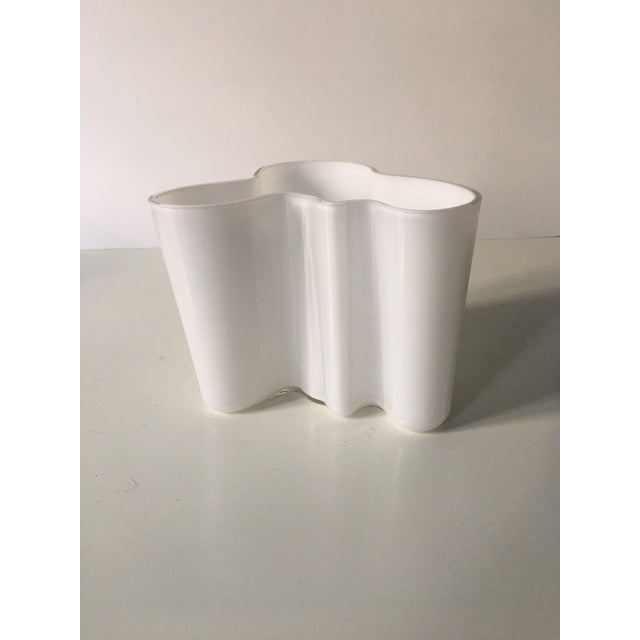 Contemporary Vintage Alvar Aalto Savoy Vase White - a Pair For Sale - Image 3 of 8