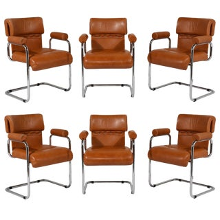 Set of 6 Italian Mid-Century Modern Mariani Dining Chairs For Sale