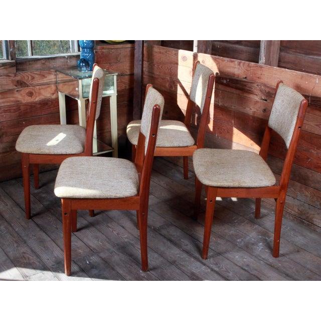 Vintage Teak Danish Modern Dining Chairs - Set of 4 - Image 2 of 9
