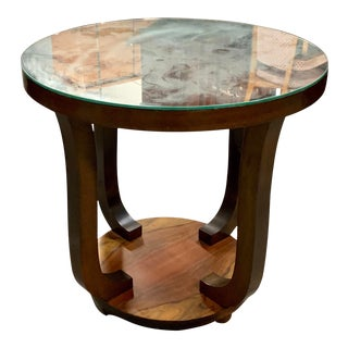 1940s Vintage French Art Deco ''Tulip'' Macassar Coffee Table or Side Table For Sale