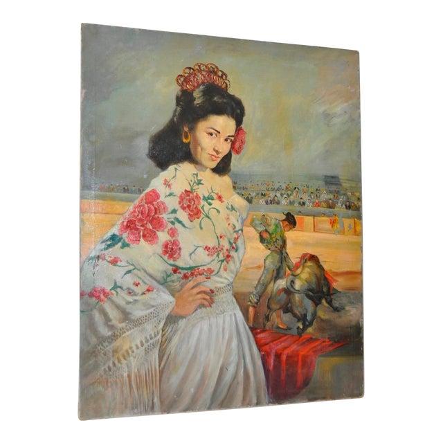 """Matador and the Señorita"" Oil on Canvas - Image 1 of 10"
