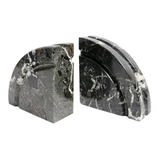 Pr. Post Modern Marble Bookends For Sale