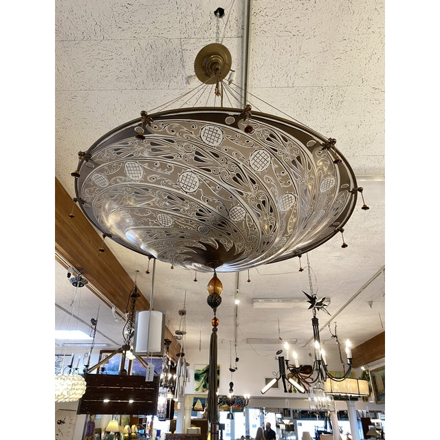 Mariano Fortuny Archeo Venice Murano Glass Chandelier For Sale - Image 11 of 13
