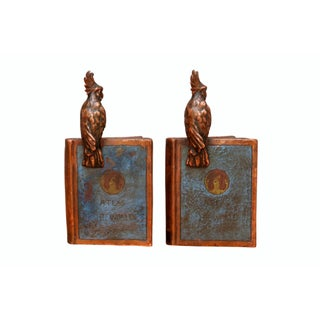 Antique 1922 'Atlas of the World' Bronze Bookends, a Pair Preview
