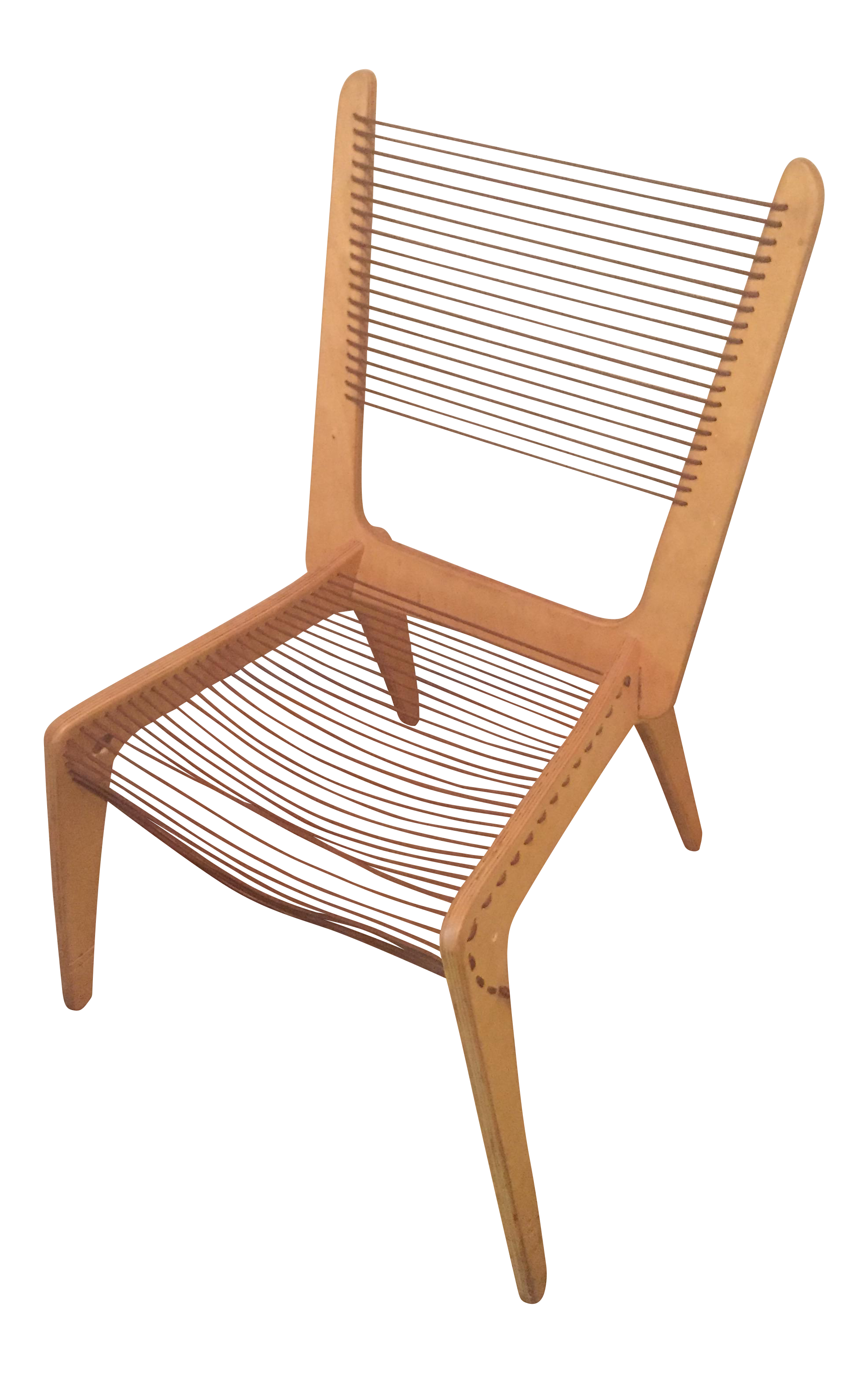 vintage jacques gillon mid century modern cord rope chair chairish rh chairish com Bungee Chair Woven Rope Chair