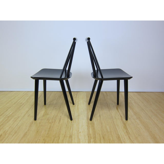 Wood 1968 Folke Palsson Black J77 Chairs for Fdb Mobler - a Pair For Sale - Image 7 of 10