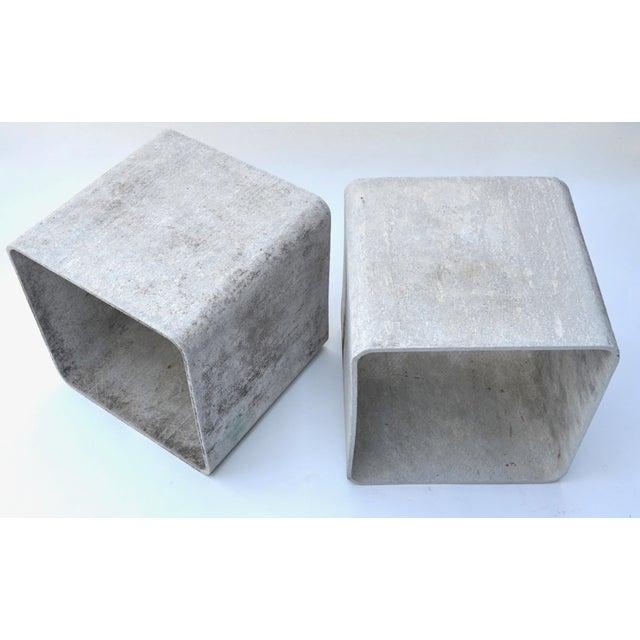 Willy Guhl Authentic Willy Guhl Modular Square Cube Tables For Sale - Image 4 of 7