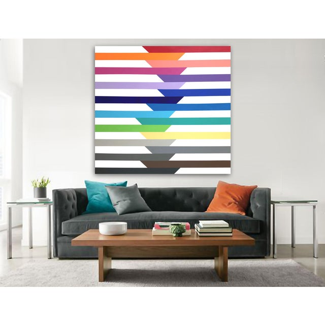 Colorful, geometric, simple yet complex. As with most of my work, this painting can be displayed from any direction as it...