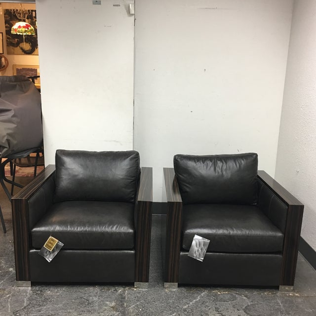 Bernhard Soft Leather Chairs - a Pair - Image 3 of 10