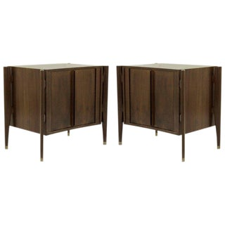 1950s Rosewood Bedside Tables by Jorgen Clausen, Denmark - a Pair For Sale