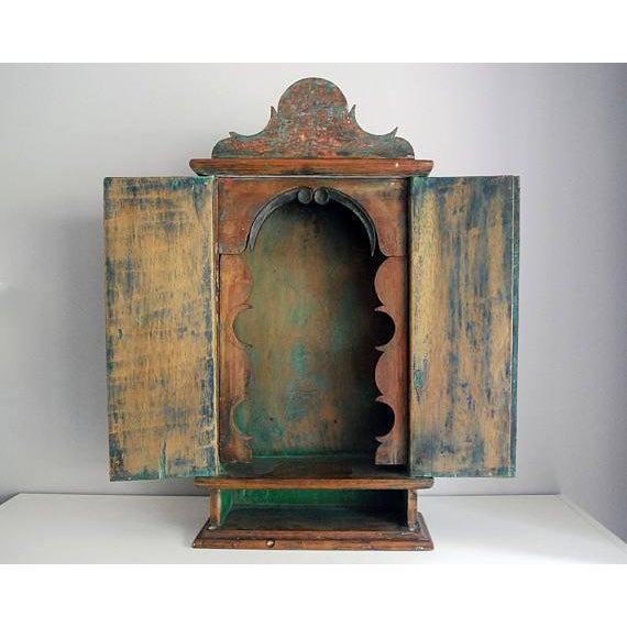 Antique 19th Century Brazilian Baroque Oratory Wood Altar Piece - Image 2 of 7