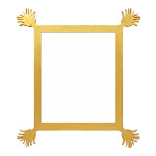 Fleur Home x Chairish Vieux Mirror in Gold Leaf, 43x55 For Sale