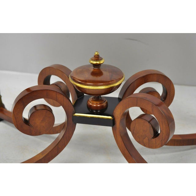 Bronze 20th Century French Empire John Widdicomb Figural Bronze Mounted Occasional Lamp Table For Sale - Image 8 of 12