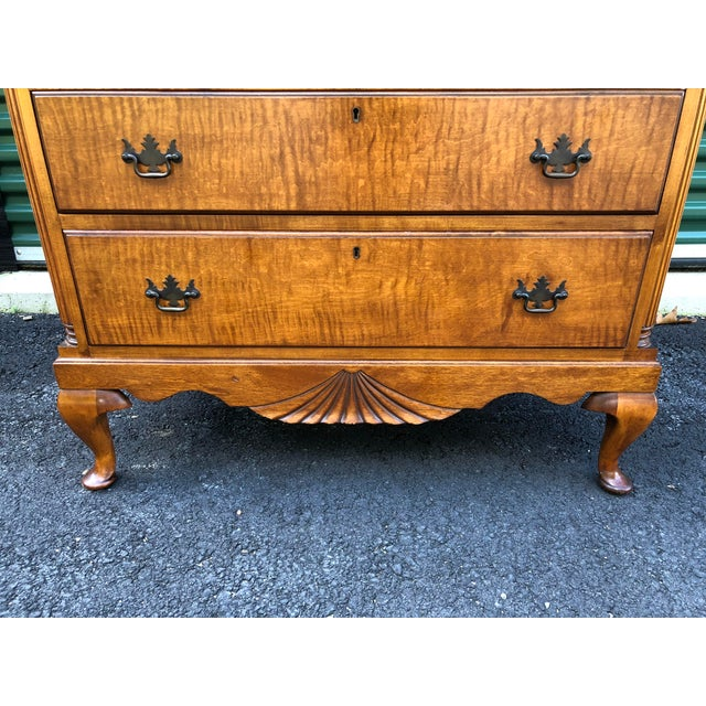 Kaplan Vintage Solid Maple Dresser Chest For Sale - Image 4 of 13