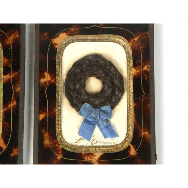 Antique French Faux Tortoiseshell Glass Picture Frames - Set of 6 For Sale - Image 4 of 11