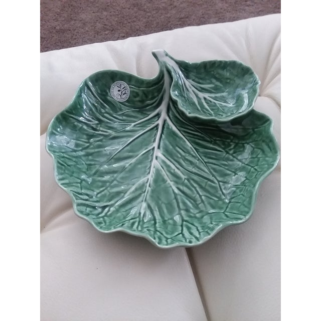 1990s Vintage Portuguese Bordallo Pinheiro Chip and Dip Tray For Sale - Image 4 of 4