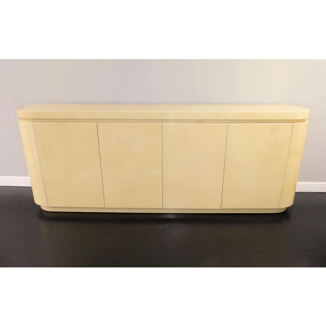 Mid-Century Modern Jimeco Ltda Lacquered Goatskin Credenza For Sale - Image 13 of 13
