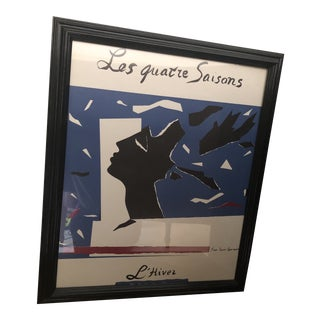 1983 Yves St. Laurent Exhibition Poster Print For Sale