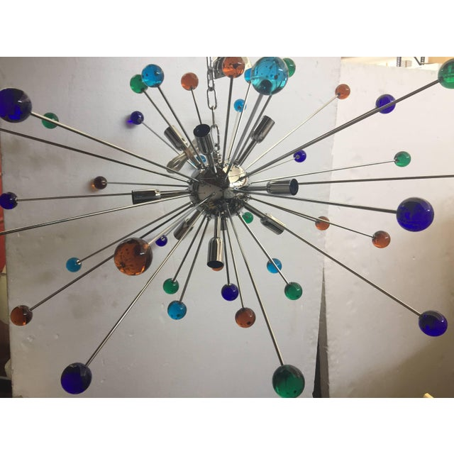 2010s Murano Glass Triedo Sputnik Chandelier For Sale - Image 5 of 7