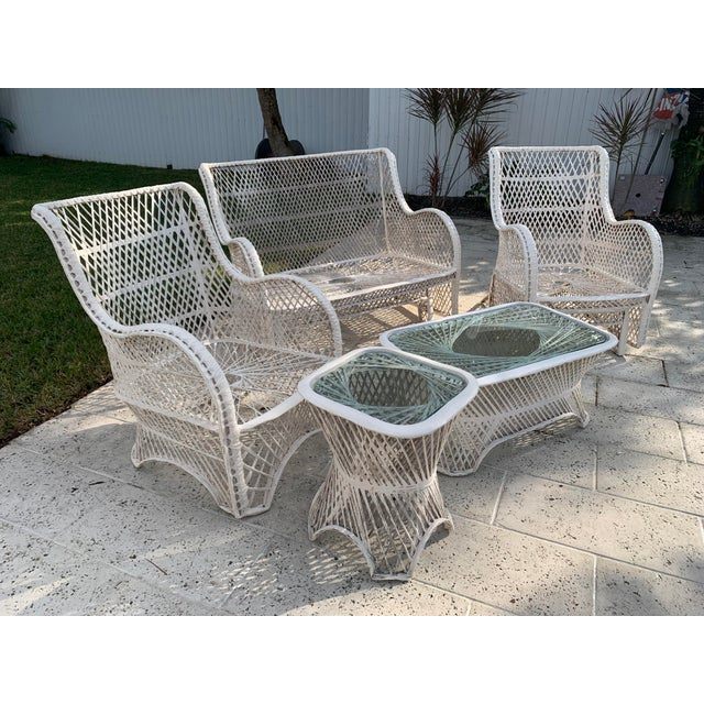 Russell Woodard Glider Loveseat & Glider Chairs Set - 5 Pieces For Sale - Image 11 of 13