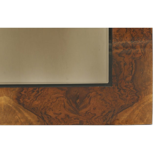 Late 20th Century Vintage Burlwood & Beveled Glass Coffee Table For Sale - Image 5 of 9