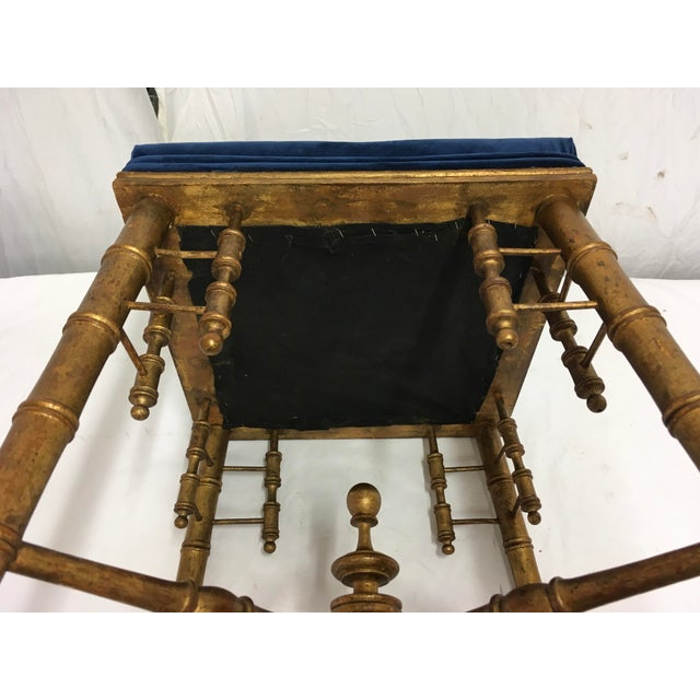 Antique Faux Bamboo Stool For Sale - Image 10 of 11