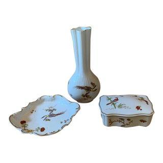 "Richard Ginori ""Paradise"" Vase, Dish and Box For Sale"