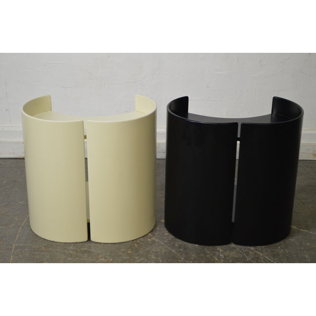 """""""Gea"""" Pair of Side Tables by Kazuhide Takahama for Gavina - Image 3 of 11"""