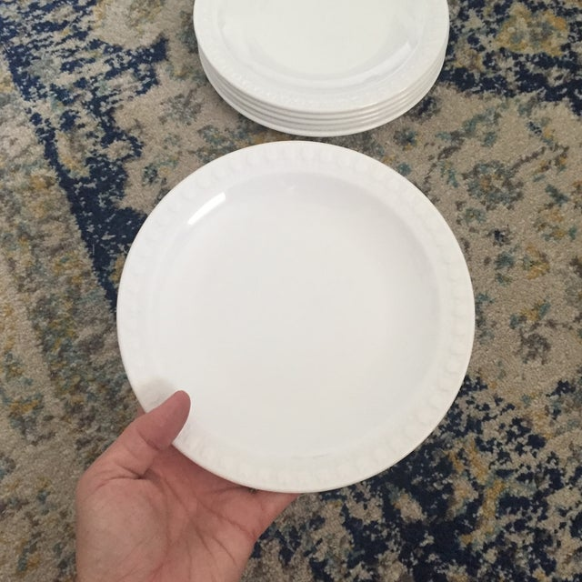 Vintage Corning Pyroceram Tableware White Dessert Plates - Set of 6 - Image 7 of 11