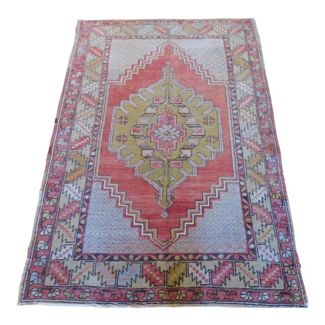 Vintage Turkish Oushak Rug - 3′6″ × 5′4″ - Image 1 of 5