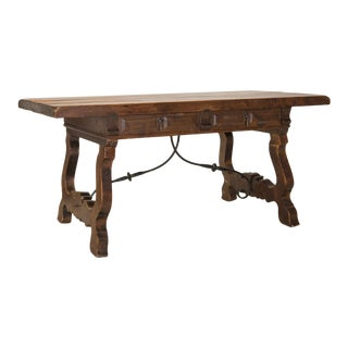 19th Century Spanish Desk With Drawers For Sale