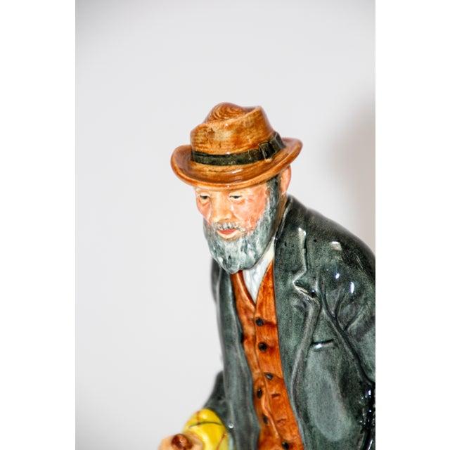 """Folk Art Royal Doulton """"The Gaffer"""" British Porcelain Figurine For Sale - Image 3 of 9"""
