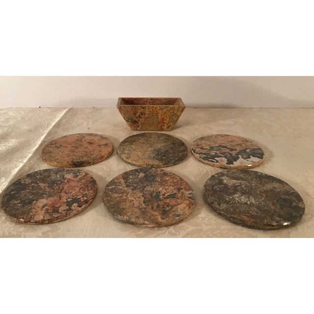 Natural Onyx Coasters - Set of 6 For Sale In Dallas - Image 6 of 8