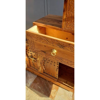 Moroccan Thuya Wood Wooden Stair Cabinet Preview