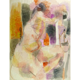 Watercolor Nude For Sale