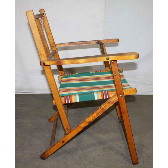 Wooden Folding Beach Chair - Image 2 of 5