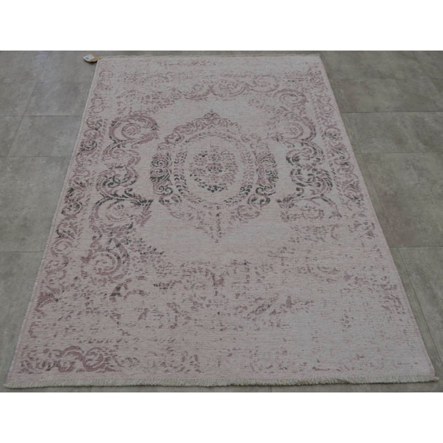 Purple Overdyed Turkish Rug - 3′11″ X 5′11″ - Image 5 of 9