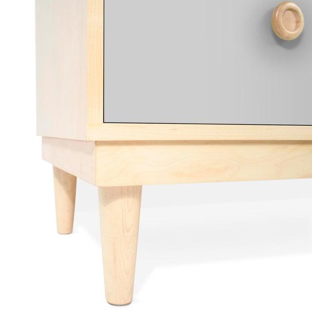 Modern Nico & Yeye Lukka Modern Kids 4 Drawer Dresser Maple Gray For Sale - Image 3 of 5