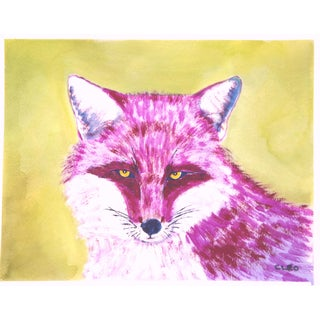 Traditional Fox Portrait Painting by Cleo Plowden For Sale