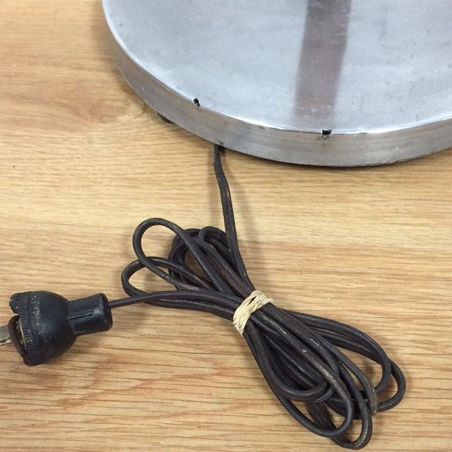 Mid-Century Oak & Aluminum Floor Lamp - Image 10 of 10