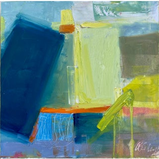 """Semper Chroma"" Contemporary Abstract Oil Painting by Susie Callahan For Sale"