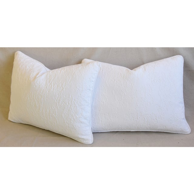 "French Provençal Quilted Feather/Down Pillows 23"" X 17"" - Pair For Sale - Image 9 of 13"
