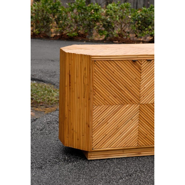 Bamboo Vintage Split Bamboo Cabinet or Buffet For Sale - Image 7 of 10
