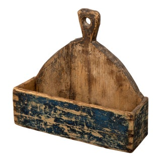 Primitive Wall-Mounted Storage Bin For Sale