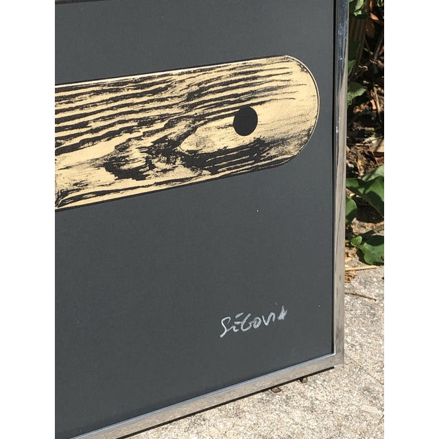 1960s 1960s Vintage Andres Segovia Abstract Surrealist Signed Lithograph Print For Sale - Image 5 of 10