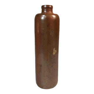 Antique Stoneware Pottery Ink Bottle For Sale