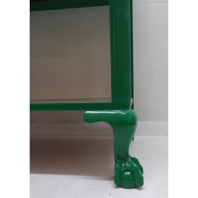 Wood Antique Green Lacquer Wood Console Table For Sale - Image 7 of 11